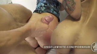 Natural anal angela bonnie rotten white threesome boobs with big huge angelawhite