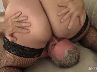 On big tits filling her mouth with his hot semen amateur homemade real cum jizz c