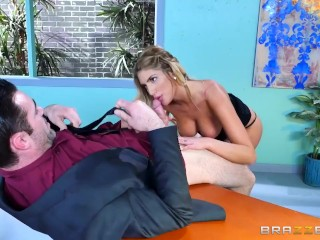 August Ames gets fucked at work - Brazzers