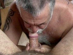 Hot Daddy Bears Fuck on the Pooltable