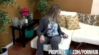 PropertySex - Best girlfriend ever gets all horny after selling house Culona voluptuous