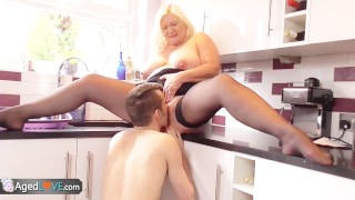 BBW Mature fucks with a boy that was lost by AgedLove