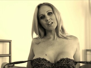 Julia ann teases with pantyhose & lingerie!