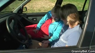 He picks up hitchhiking old granny