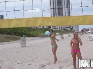Mofos - topless beach party