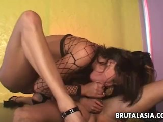 Thai sucking a cock after a nice anal fuck