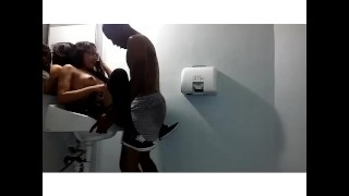 bbc fucks asian gf pt.2  petite perky tits public bathroom glasses bbc lingerie homemade raven small public oriental