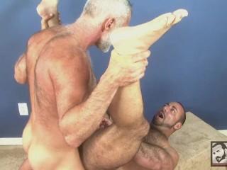 Furry Muscle Bear Allen Silver Fucks Straight Muscle Daddy Rocky LaBarre