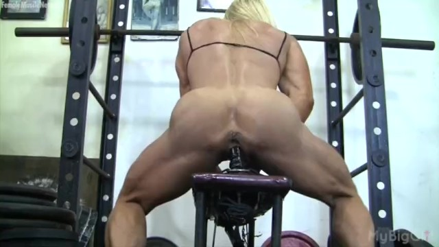 Fuck at gtm Muscular lacey fuck a gym dildo