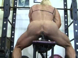 muscular-woman-rides-dildo-fine-pink-pussy