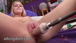 Preview 6 of Scarlett Sage trying the fuck machine