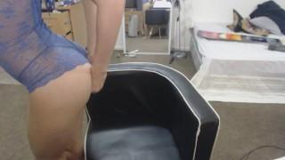 MissAlice94 Blue Lingerie Head tits