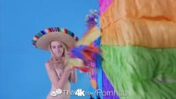 Tiny4K - Skinny teen Kristy May enjoys a sexy fuck fiesta