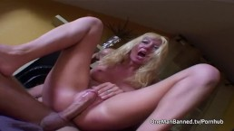 Blonde milf squeals while assfucked