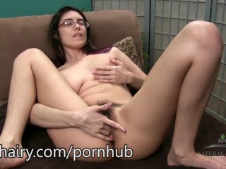 Mitena and her beautiful hairy pussy