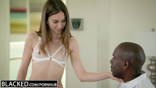 BLACKED Petite Riley Reid Tries Huge Black Cock In Her Ass Kink piercing