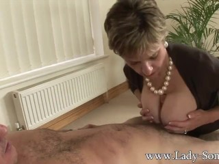 Preview 4 of Lady Sonia fucks 2 guys gets covered in cum
