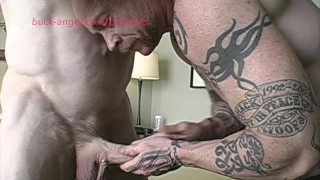 Muscle Men Buck Angel and Wolf Fuck after the Gym