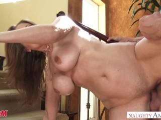 Big tits uber MILF Julia Ann bangs her daughter's suitor - Naughty America