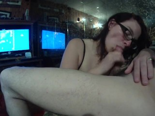 Friday the 13th blowjob while playing Mario