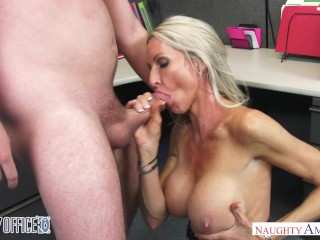 Flexible Gangbang Fucking, MILF Emma Starr seduces her coworker - Naughty Office - Naughty America
