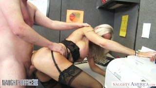 MILF Emma Starr seduces her coworker - Naughty Office - Naughty America Oral blowjobs