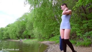 Jeny Smith - apple trees Spycam taxi