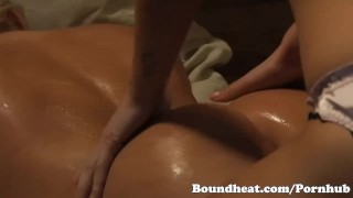 Preview 4 of Juicy horny slave ass gets massaged by horny naked slave