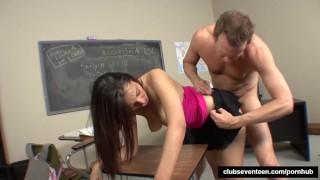 Beauty schoolgirl fuck her professor porno