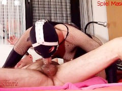 Best ring gag deepthroat all time ever with cumming deep in(side) throat!!!
