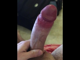 Big cumshot no stroking
