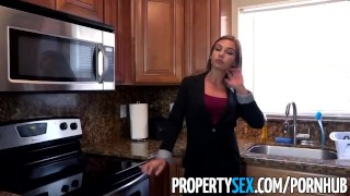 PropertySex - Wicked fine real estate agent bones her new sugar daddy Twink bj