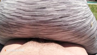 Entertaining My Neighbors with a Riding Creampie in the Backyard Fingering toys