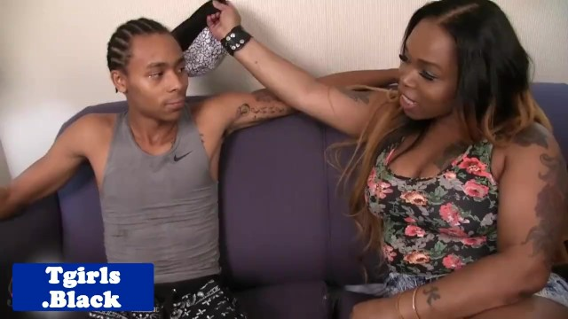 Transsexual labia - Black transsexual pounded doggystyle