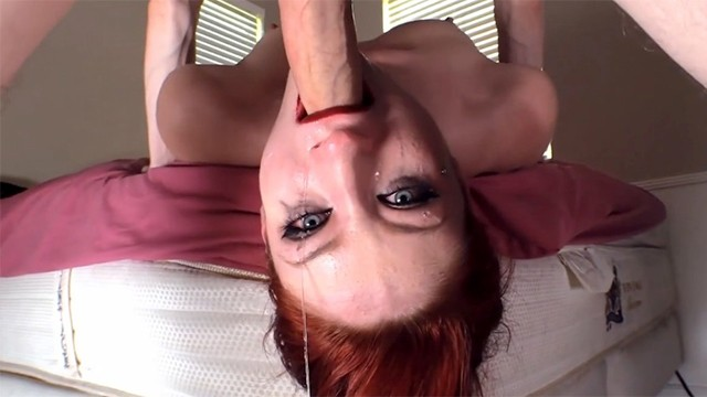 Goth Girl Violet Monroe Sucks Huge Cock Deepthroat Cum Swallow Blowjob