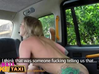 FemaleFakeTaxi Lesbian dominates tattooed redhead