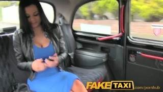 Described Video - FakeTaxi Sex starved career woman in lunch break sex tape Downblouse petite