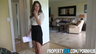 Described Video  - Insanely hot realtor flirts and fucks on camera