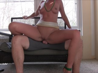 Big Booty Divas Wild Milf Rides, Covers Him In Cum, Gets Mega Creampie Surprise