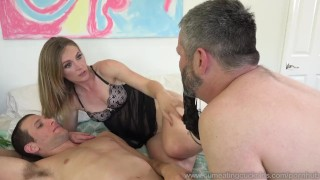 Mona Wales Turns Her Husband Into Perfect Cock Sucker Blowjob cock