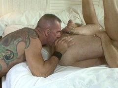 Hairy Daddies Fuck In Gay Resort
