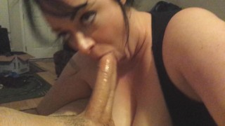 BUSTY PRETTY WIFE DEEPTHROAT TITFUCK MESSY CUMSHOT INCREDIBLE!