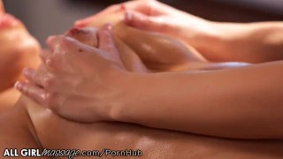 Hot Lesbian Masseuse is Wet for Darcie Dolce Licking squirting
