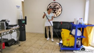 The new cleaning lady swallows a load!  teen bangbros maid dirty young hardcore mydirtymaid bangbrosnetwork latina latin teenager lady cleaning
