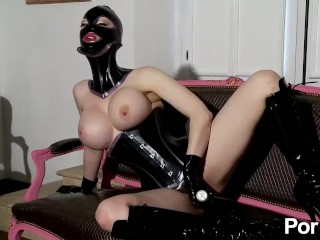 The Adult Video Experience Presents Latex Lucy the British Dominatrix 1 Best Of – Scene 5