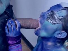 Blue pantie upskirt