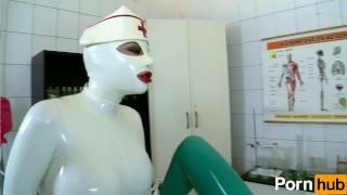 Latex Lucy the British Dominatrix 1 Best Of - Scene 4  big ass shaved-pussy nurse pussy-licking femdom fetish kink lesbian clinic girl-on-girl feet latex uniform high-heels body suit
