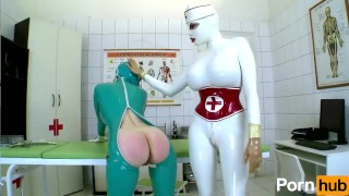 Latex Lucy the British Dominatrix 1 Best Of - Scene 4  big ass big tits high heels nurse femdom fetish kink lesbian feet latex uniform pussy licking body suit girl on girl clinic shaved pussy