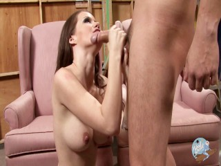 Raven Alexis Loves to Blow and Gets Face Fucked