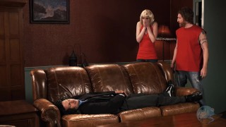 Mark Fucks Lisa in the Middle of the Room - The BedRoom XXX Parody